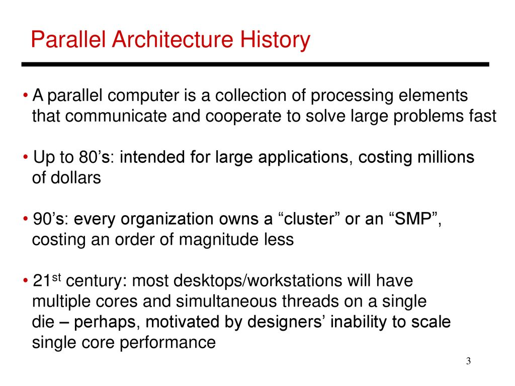 Lecture 1: Parallel Architecture Intro - ppt download