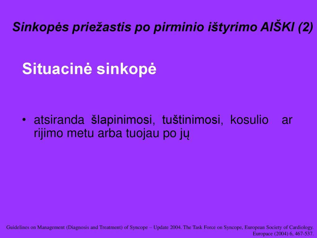 situacinė hipertenzija)