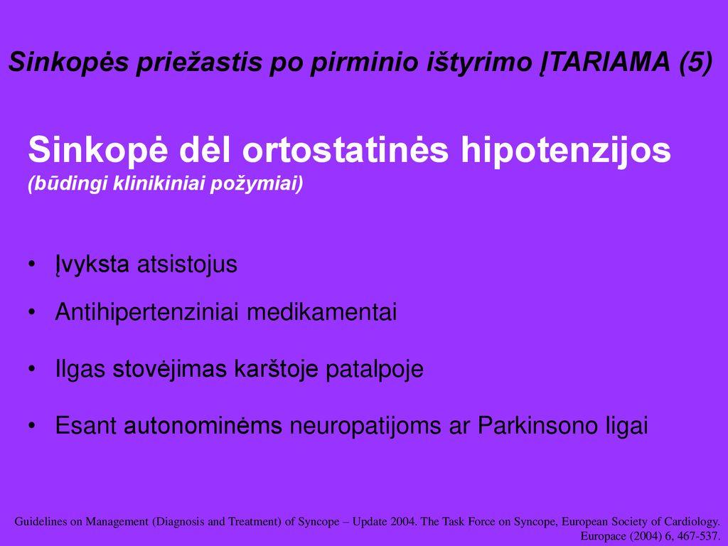 ortostatinė hipotenzija ir hipertenzija hipertenzija amžius 30 metų