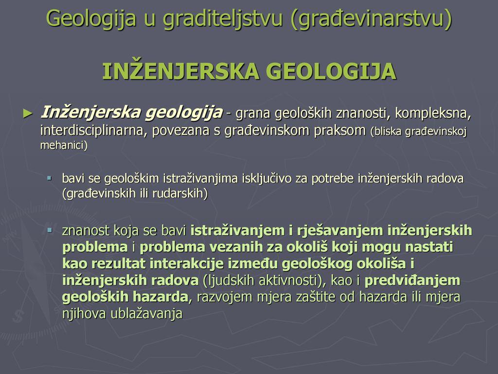 različite vrste geoloških datiranja ako su izlazili sami