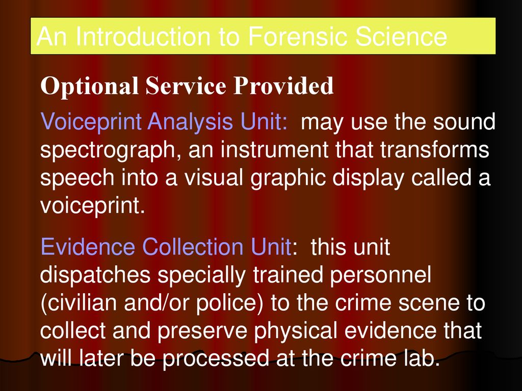 Introduction To Forensic Science Ppt Download