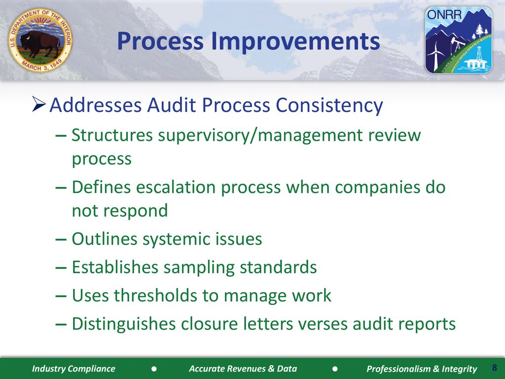 ONRR Compliance Process Improvement - ppt download