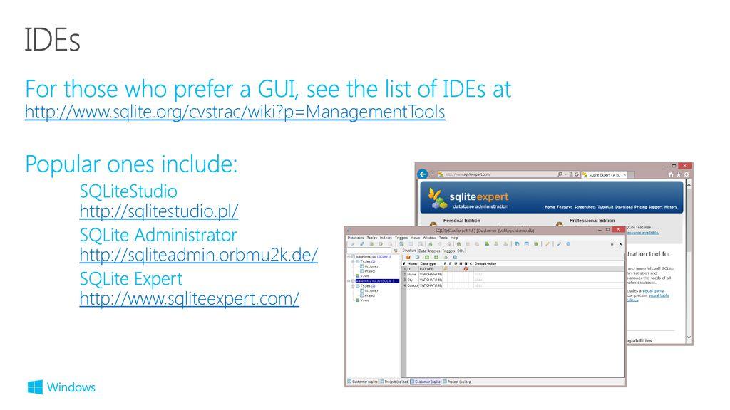 Programming SQLite on Windows Phone ppt download