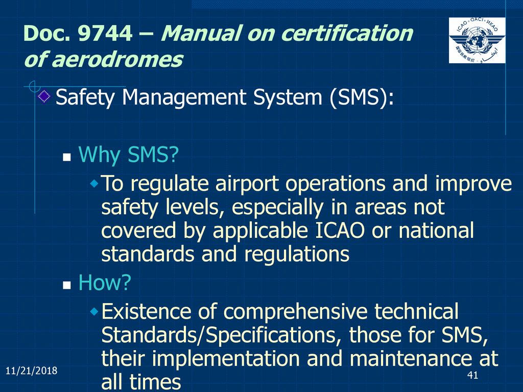 Doc – Manual on certification of aerodromes