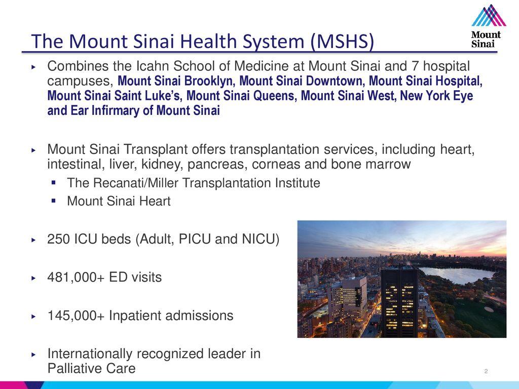 Organ Donation: A Collaborative Effort Mount Sinai Health