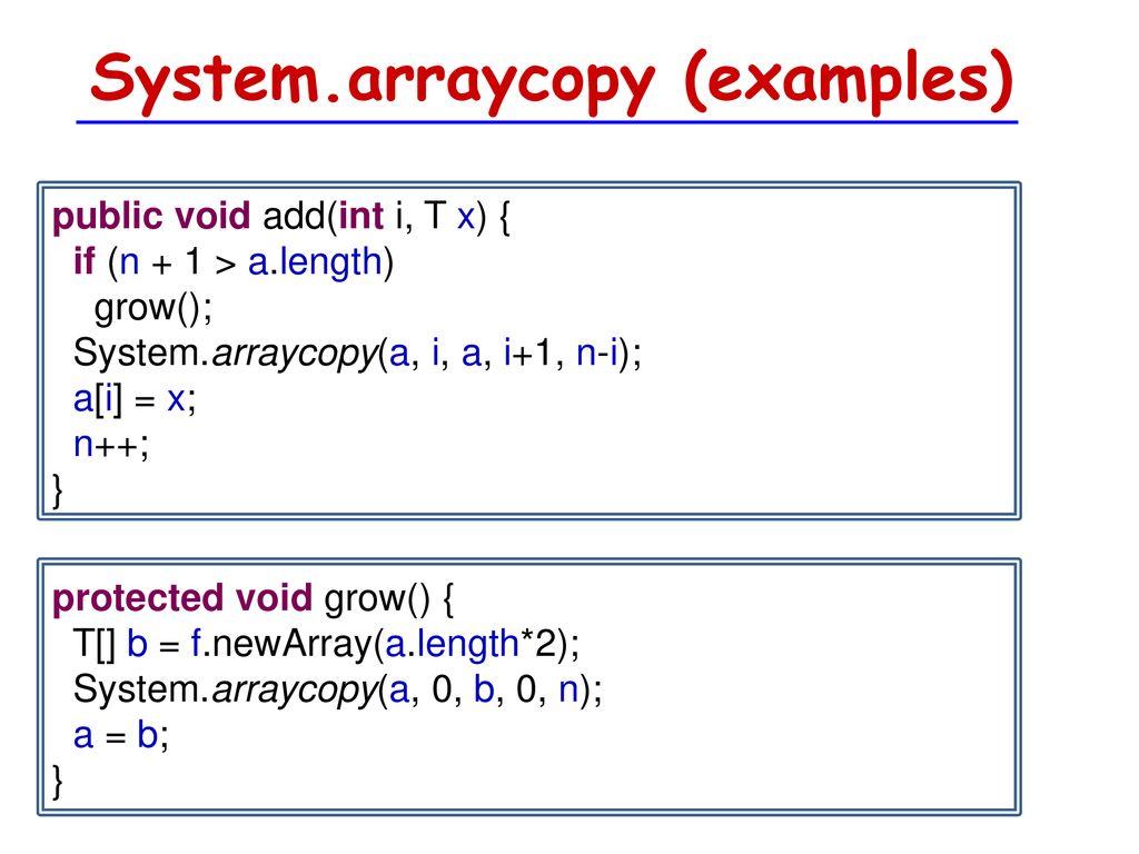 Arraycopy
