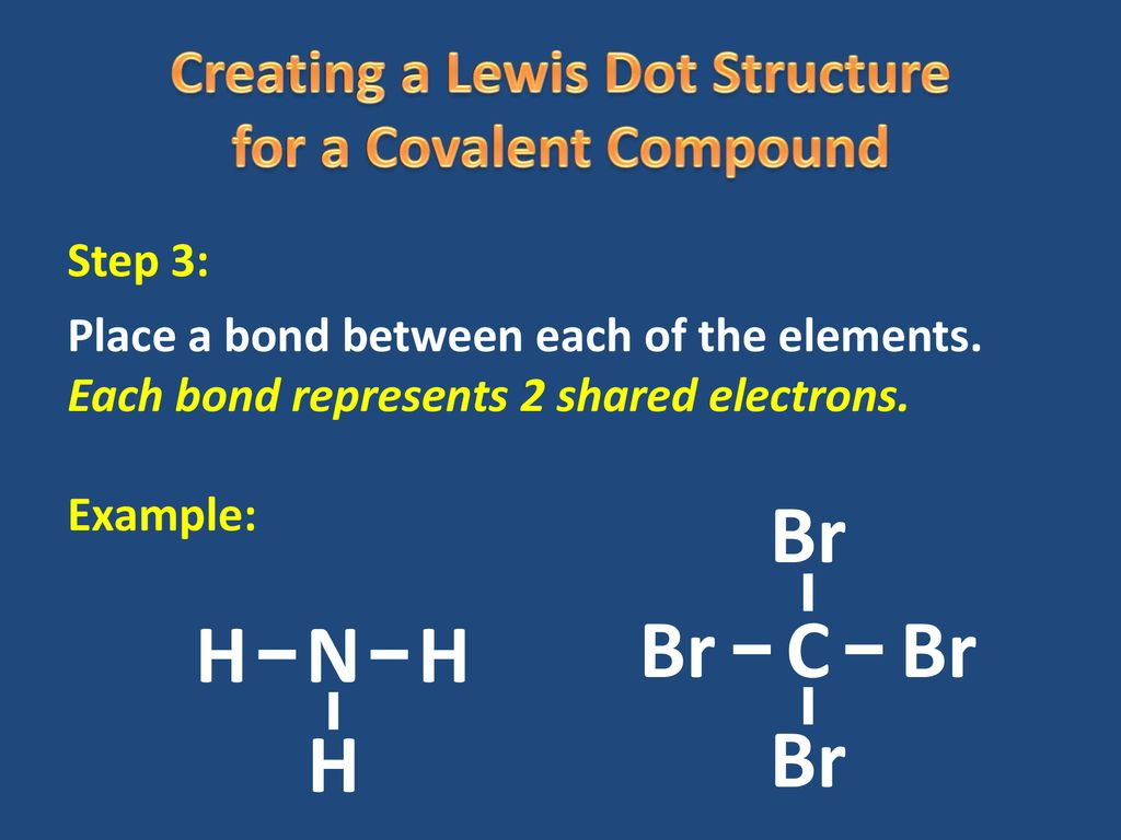creating a lewis dot structure for a covalent compound