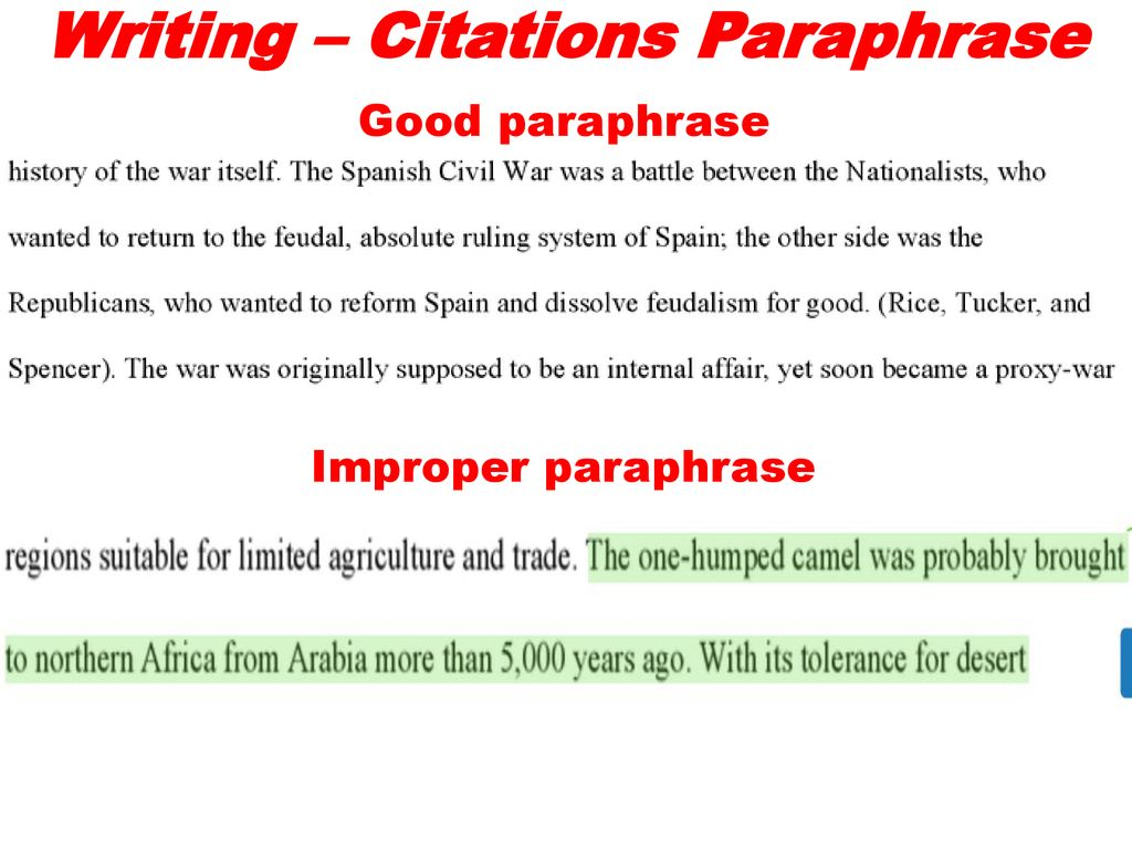 Journal Entry 12 13 17 Where Doe The Citation Go For A Direct Quote Ppt Download Proper And Improper Paraphrasing