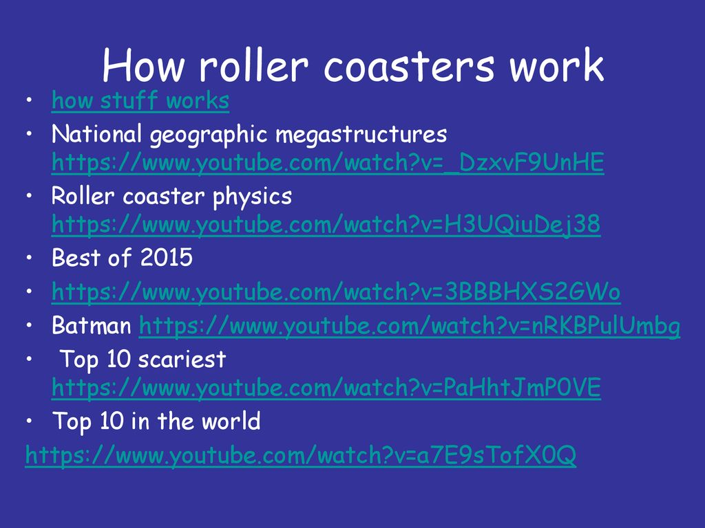 how stuff works roller coaster physics