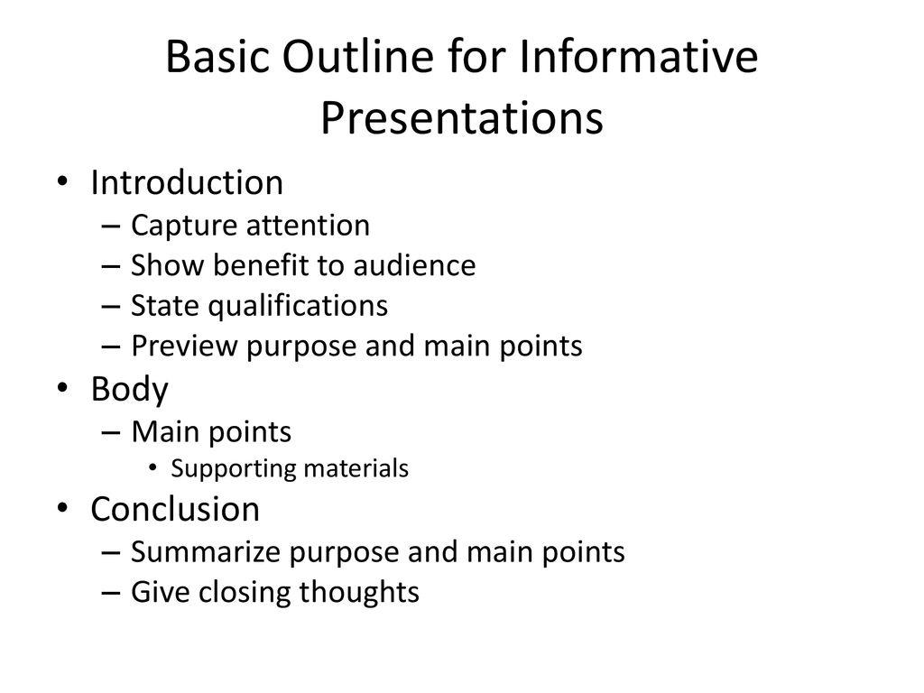 Chapter 11 Informative Presentations Ppt Download