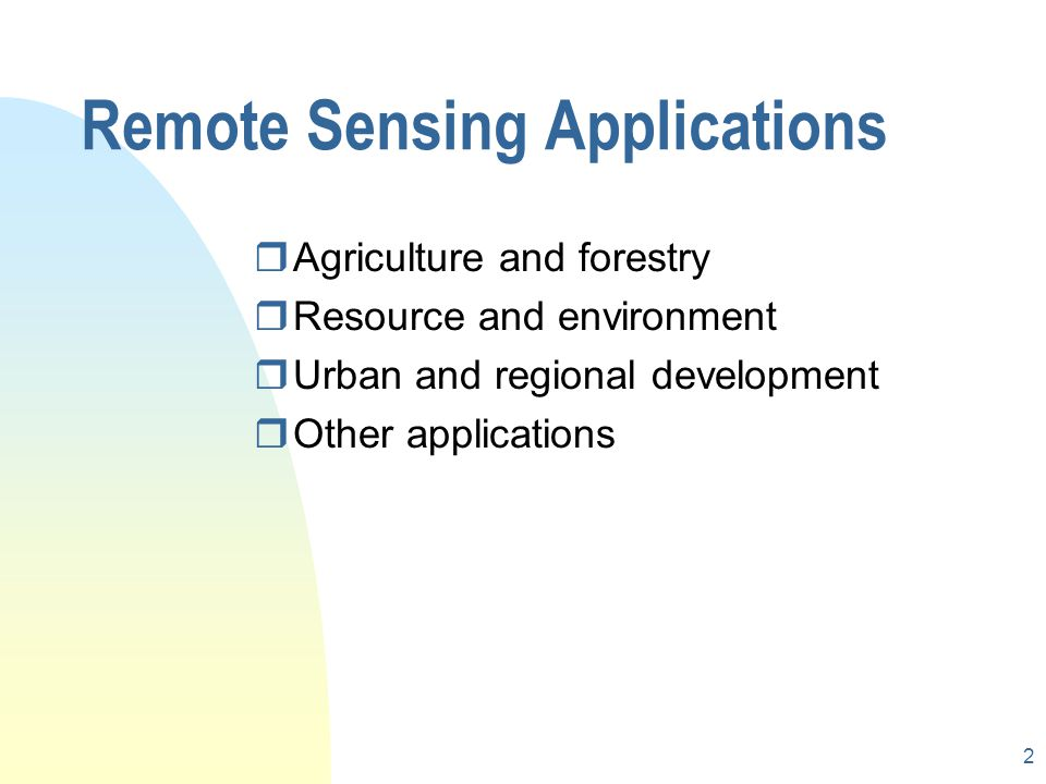 remote sensing applications in environment