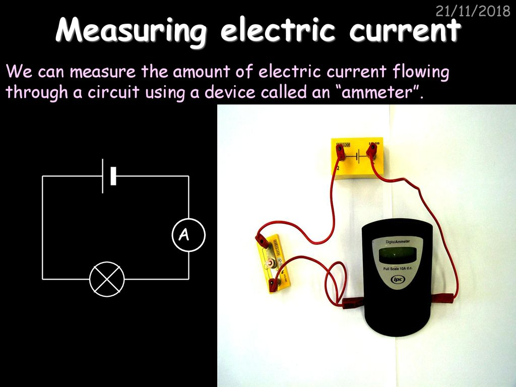 Measuring Current Learning Objective Use An Ammeter With Care Ppt Construct A Series Circuit 1 Cell And The In Circuits Digrams Bulb Switch 6 Electric