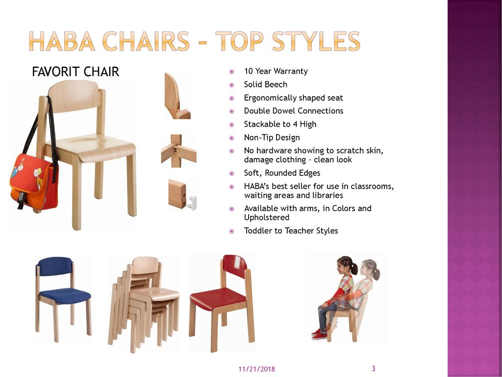 e0db7f5c63b99 ... and Upholstered Toddler to Teacher Styles 11 21 2018. HABA Chairs – Top  Styles