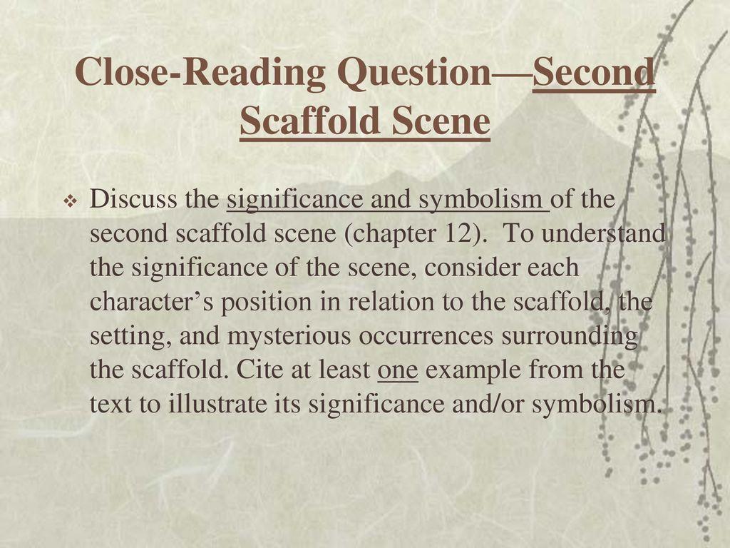second scaffold scene scarlet letter
