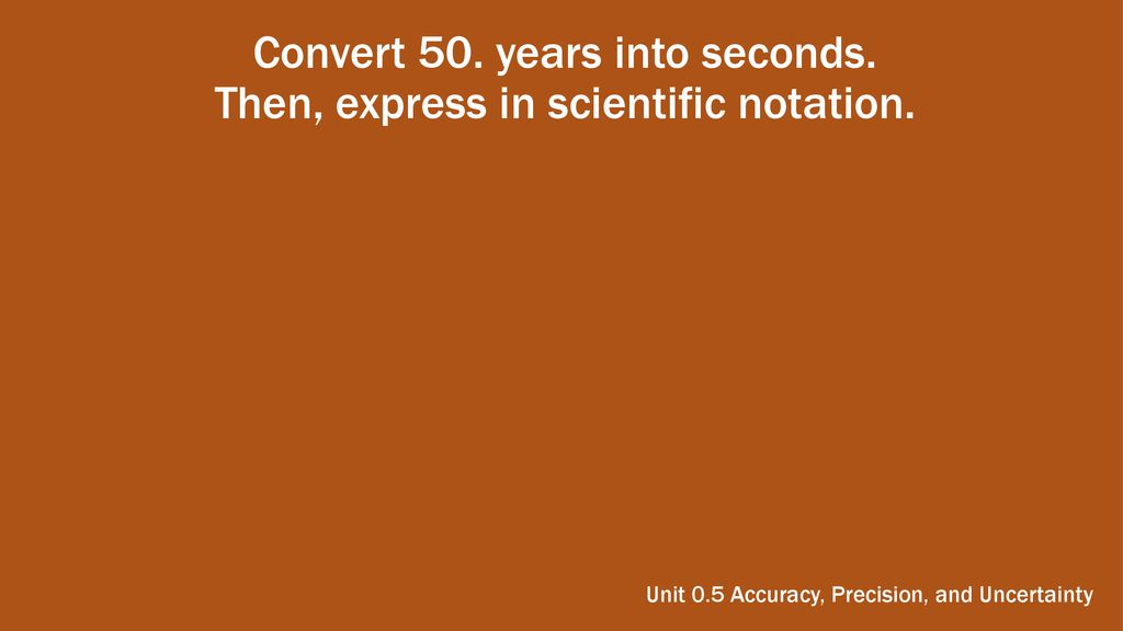 41 Convert 50 Years