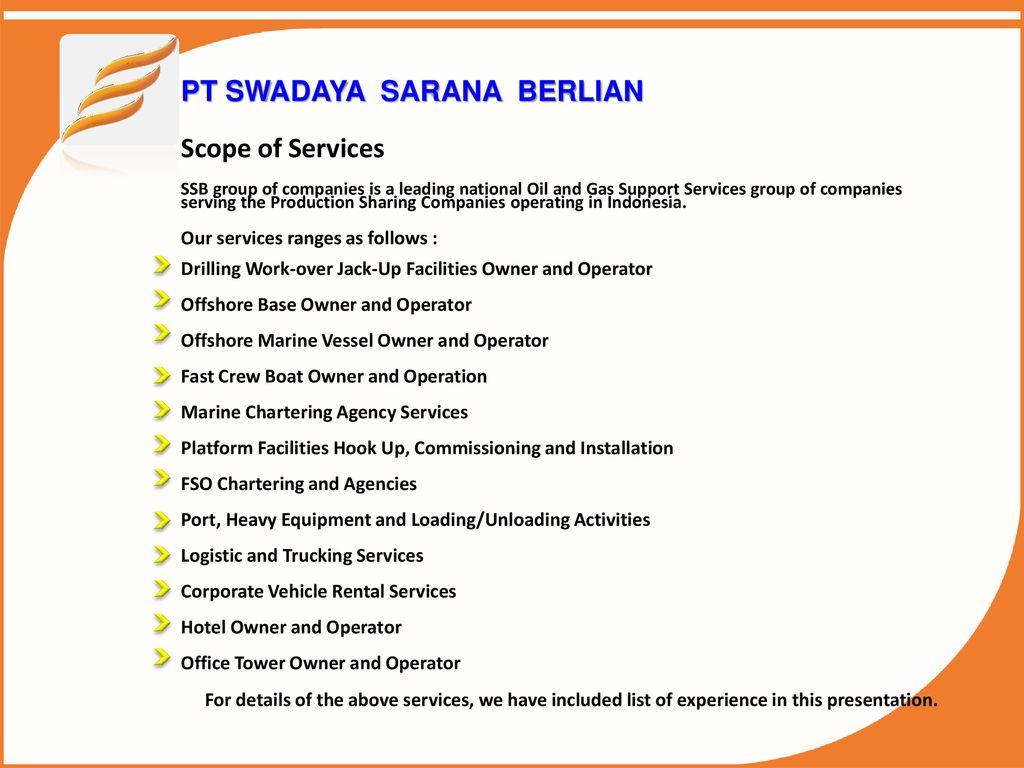 PT SWADAYA SARANA BERLIAN - ppt download