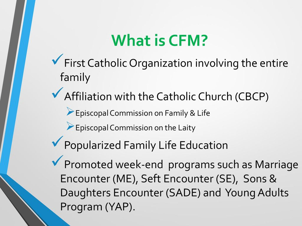 Christian Family Movement of the Philippines - CFM - ppt