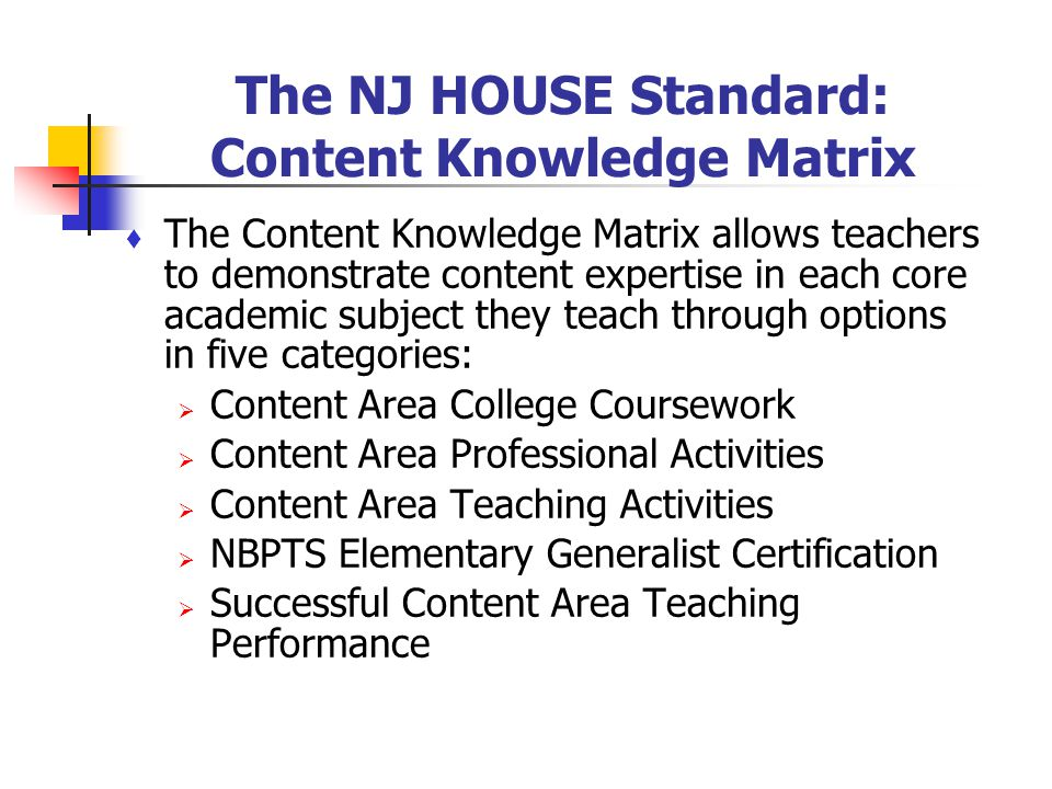 NEW JERSEY\'S MODEL FOR HIGHLY QUALIFIED TEACHERS - ppt download