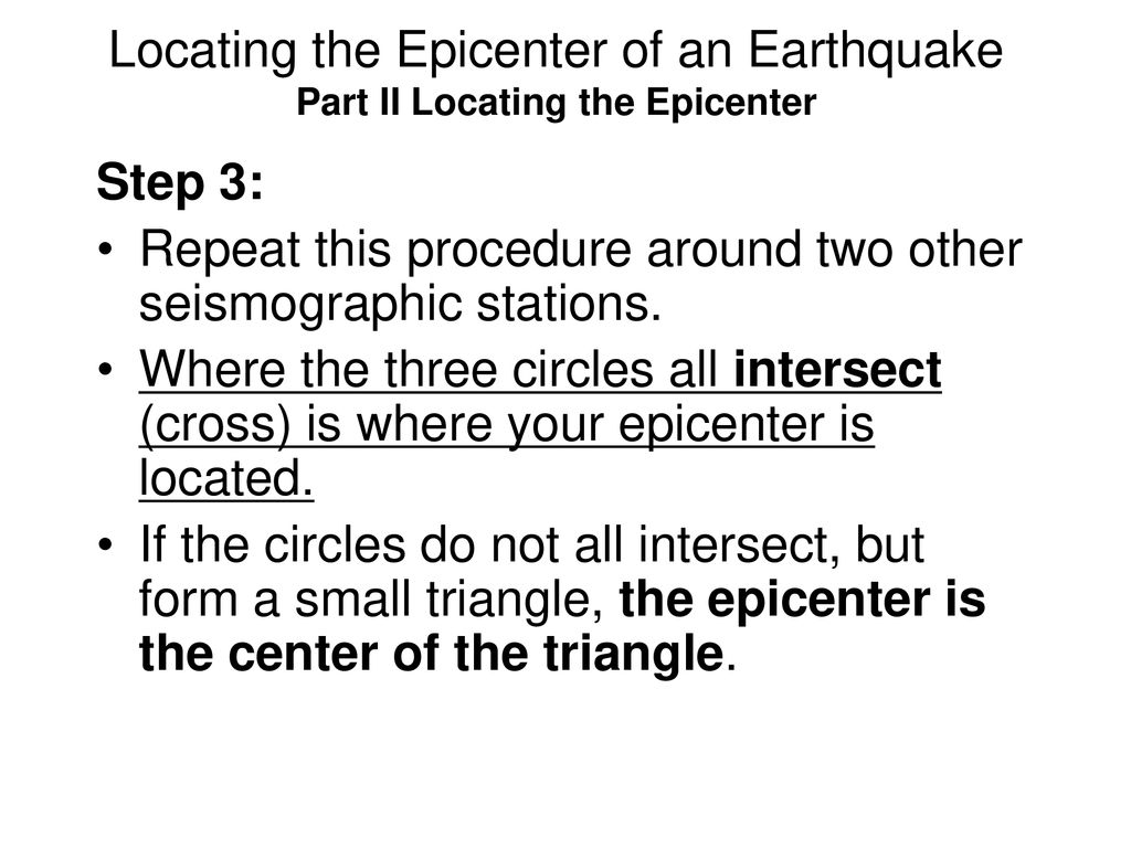 Instructions For Locating An Earthquake Epicenter Ppt Download