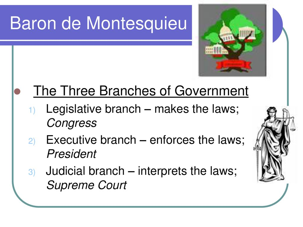 montesquieu three branches of government