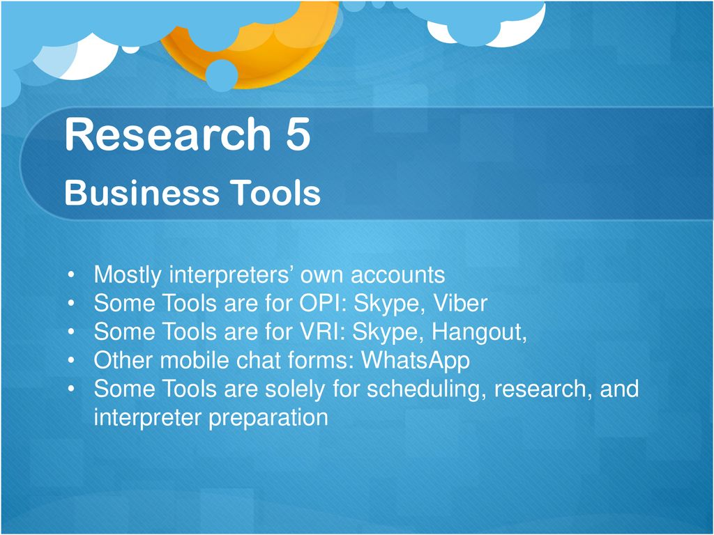 Research 5 Business Tools