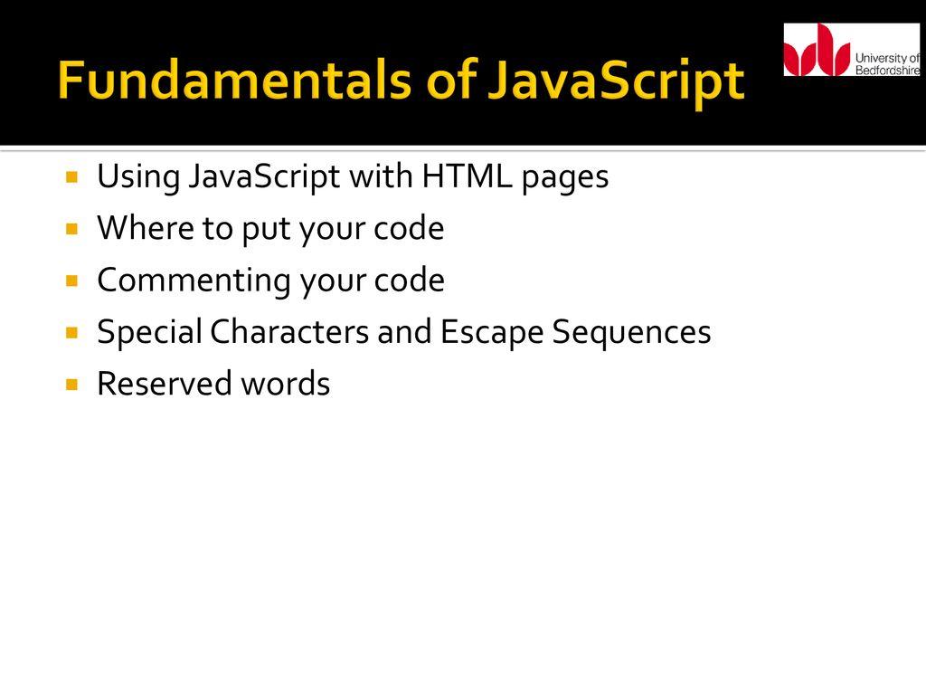 Understanding JavaScript - ppt download