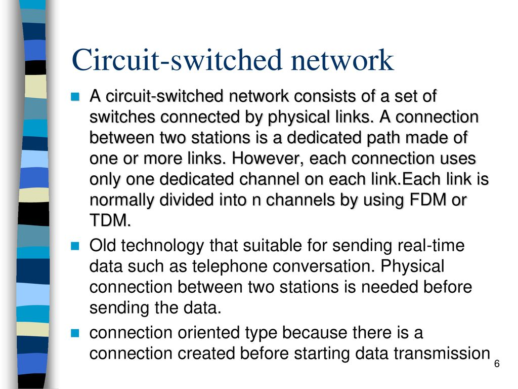 Computer Network Technology Wide Area Wan Ppt Circuitswitched 6 Circuit Switched