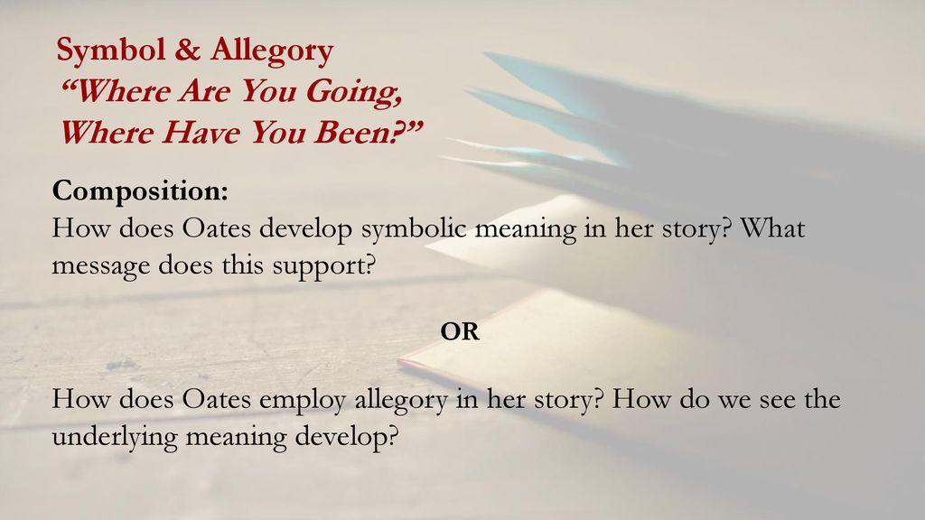 allegory in where are you going where have you been