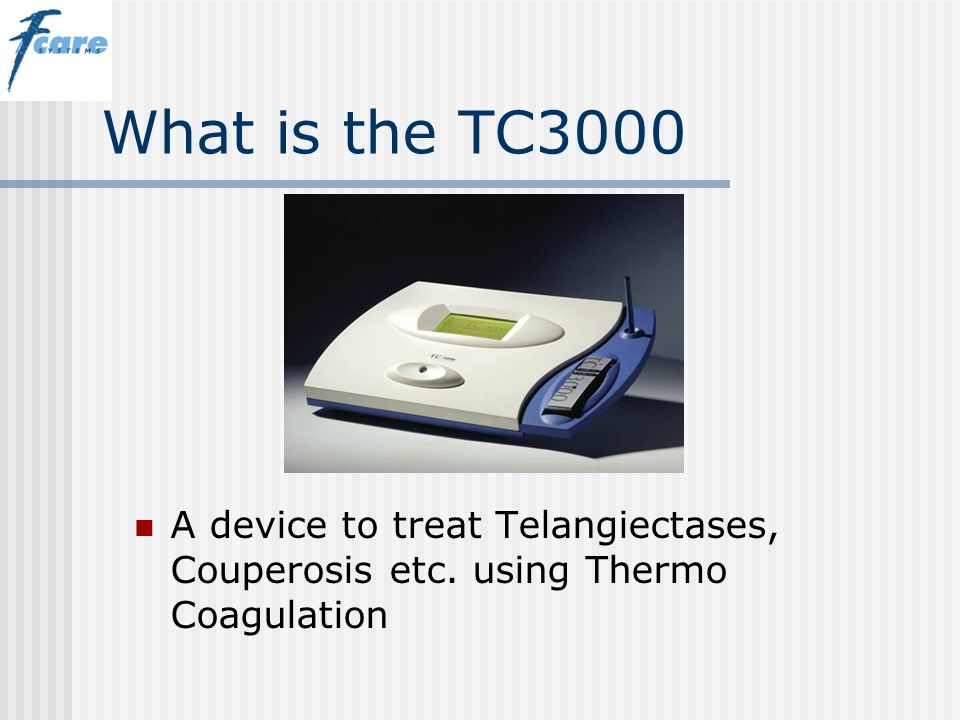 What is the TC3000 A device to treat Telangiectases, Couperosis etc. using Thermo Coagulation