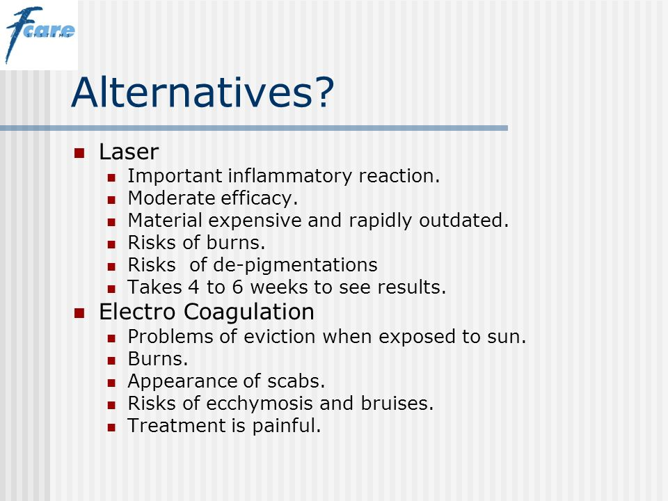 Alternatives Laser Electro Coagulation