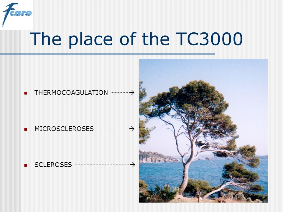 The place of the TC3000 THERMOCOAGULATION ------