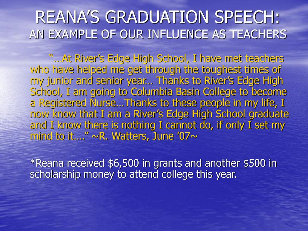 scholarship speech example