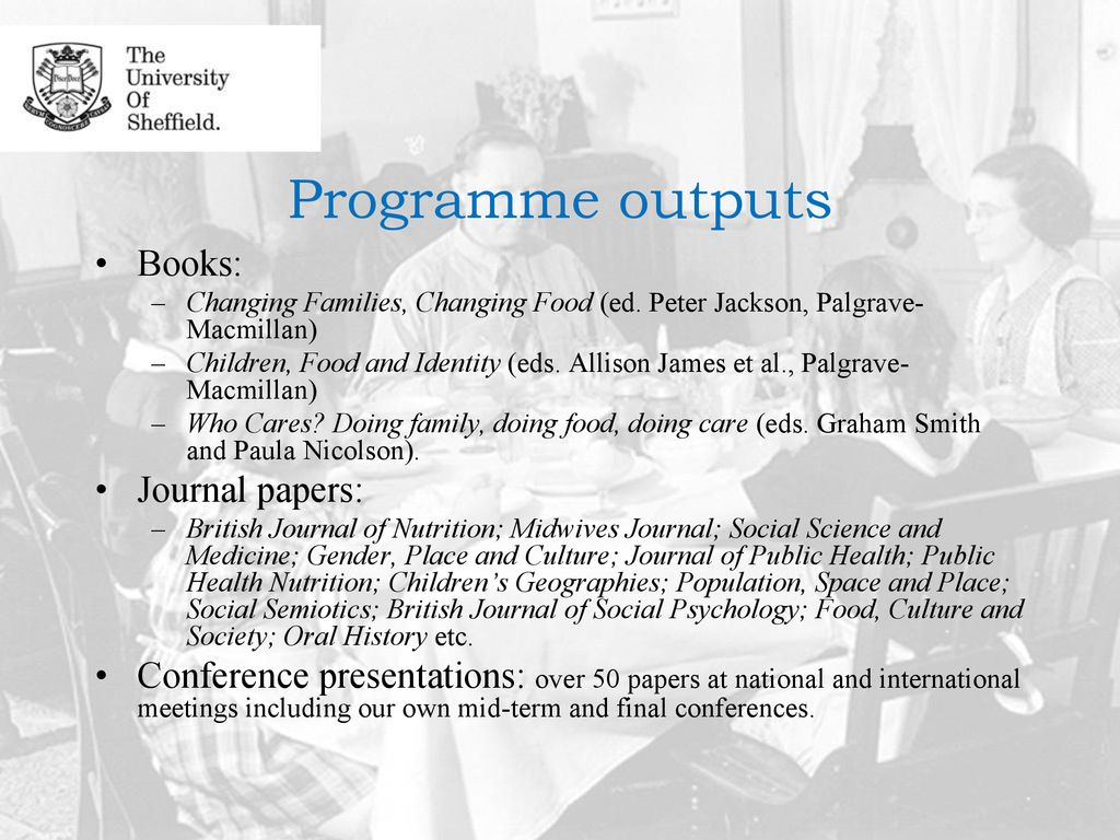 Changing Families, Changing Food - ppt download