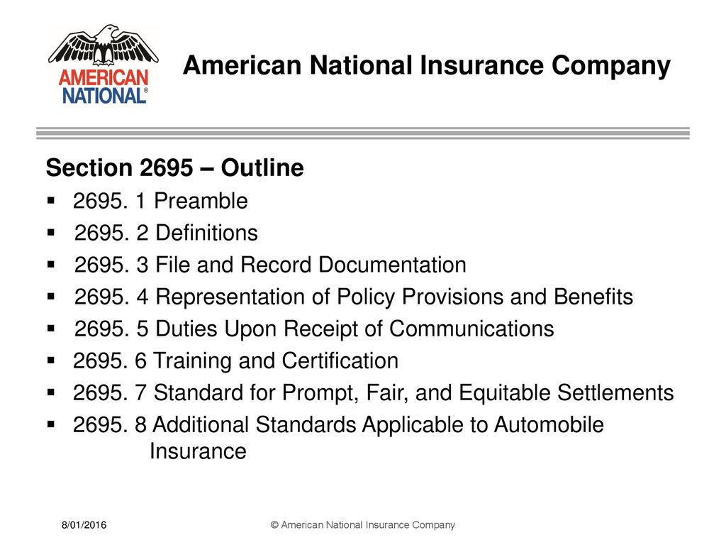 American National Insurance Company Ppt Download