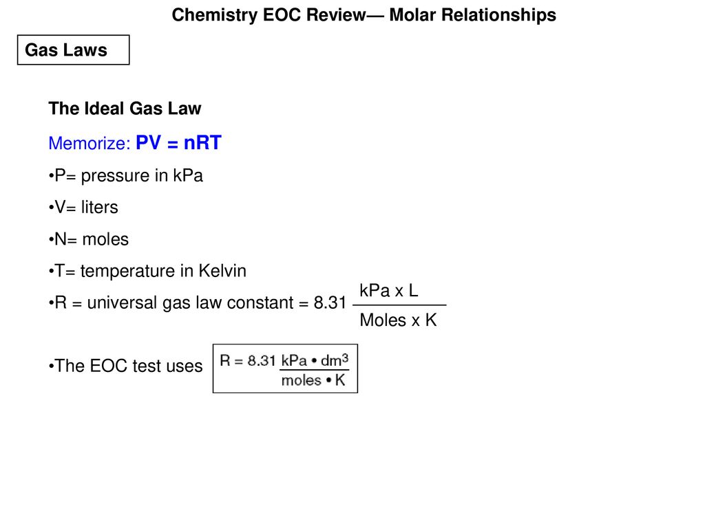 chemistry eoc review