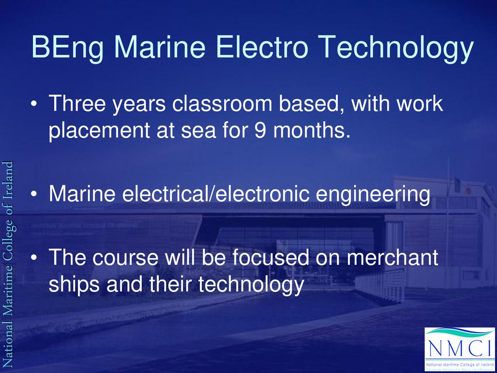 ETO Training at the National Maritime College of Ireland - ppt download