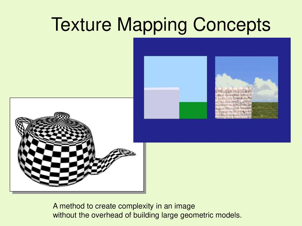 Introduction to Texture Mapping - ppt download on skin mapping, motion blur, function mapping, phong shading, mip mapping, alpha blending, character mapping, noise mapping, contour mapping, emotion mapping, flat shading, smooth shading, heat mapping, value mapping, text mapping, uv mapping, perspective correction, ray tracing, pressure mapping, landscape mapping, global illumination, bilinear filtering, bump mapping, color mapping, flow mapping, food mapping, tone mapping, gouraud shading, shadow mapping,