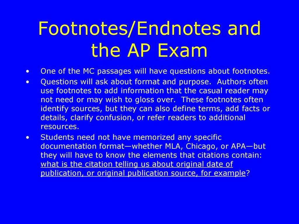 purpose of footnotes