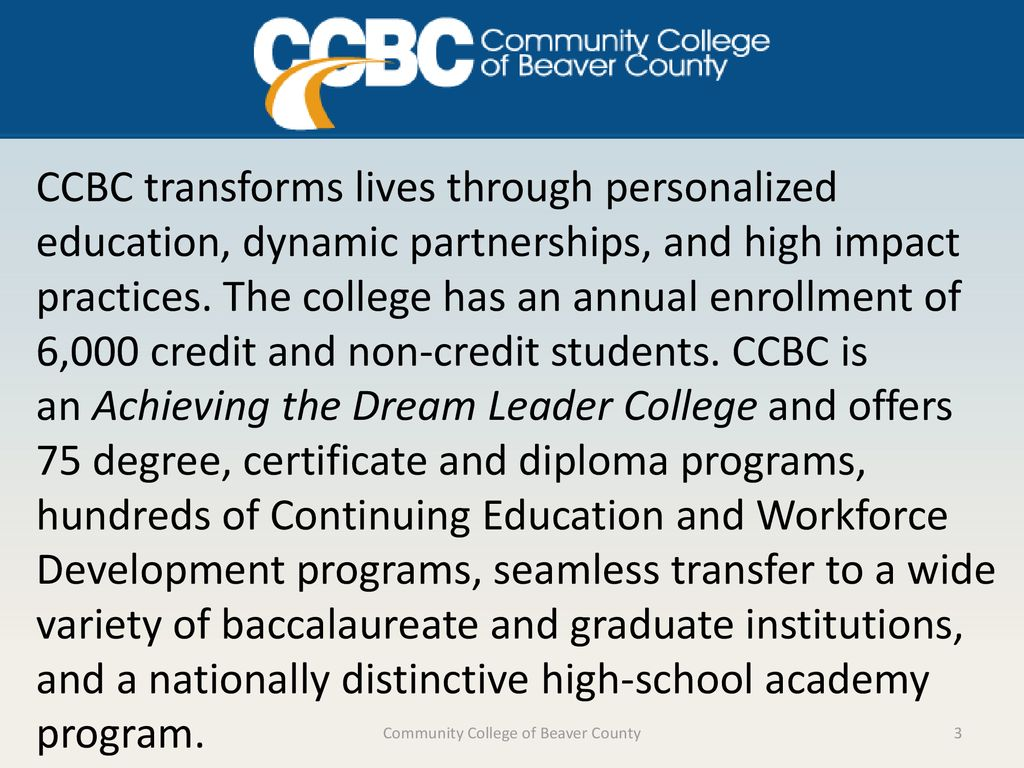 Community College of Beaver County - ppt download