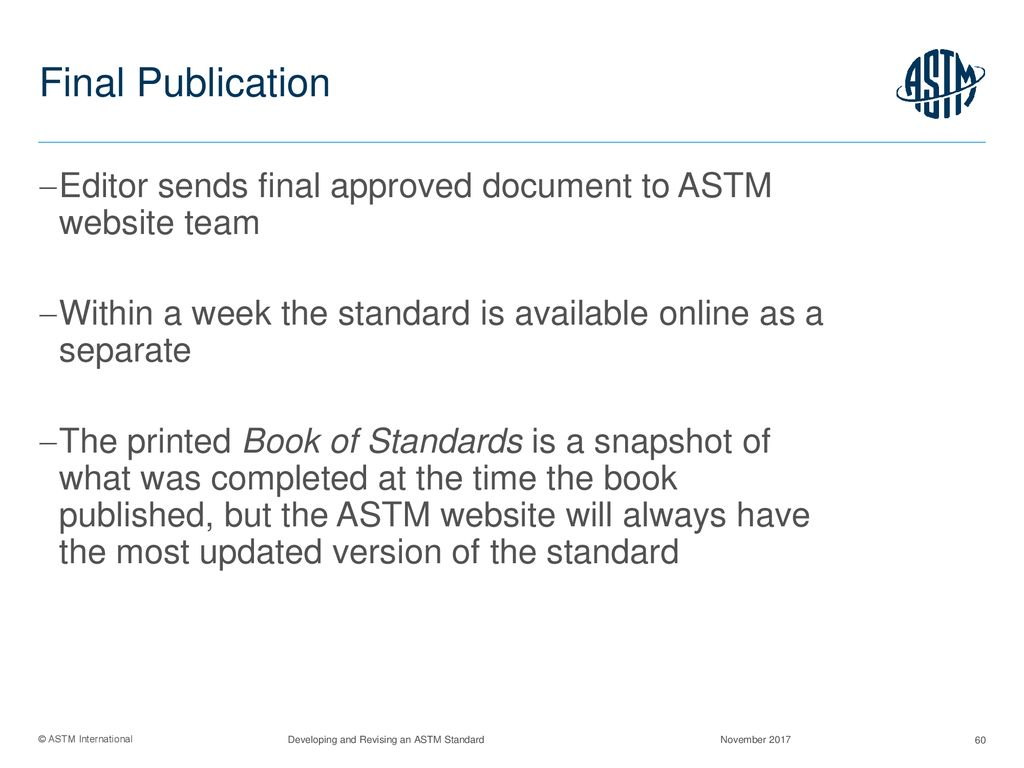 Developing and Revising an ASTM Standard - ppt download