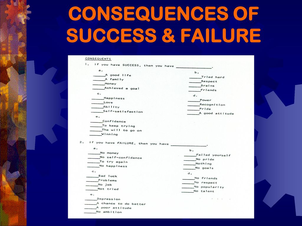 Consequences To Success