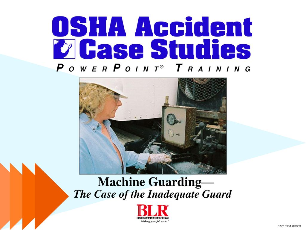 Machine Guarding— The Case of the Inadequate Guard - ppt download