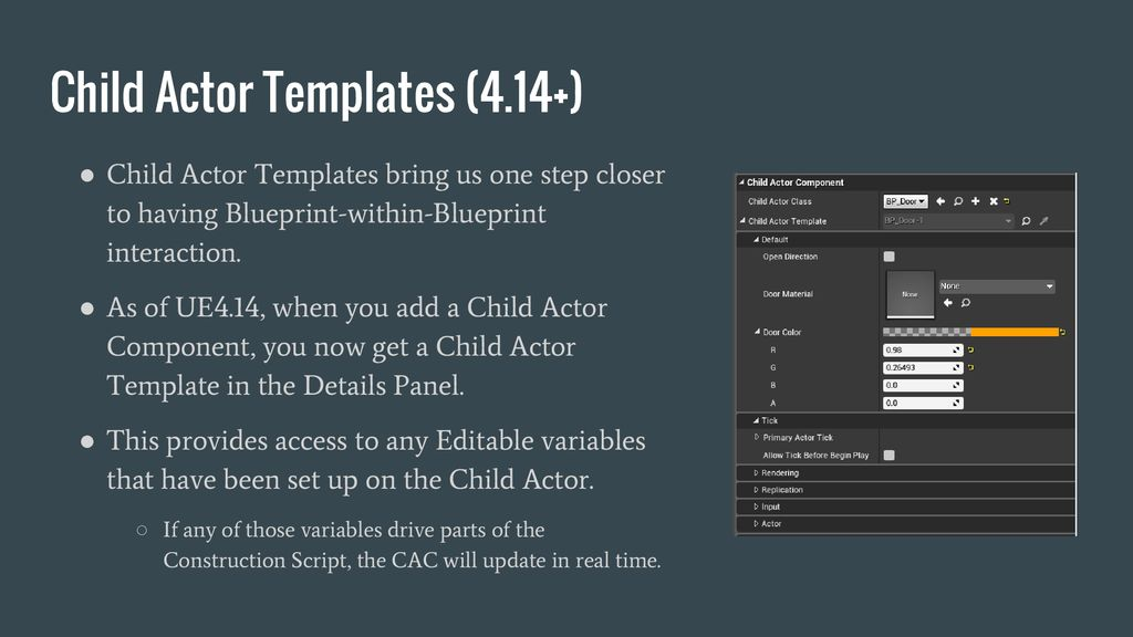 Child Actor Component Templates - ppt download