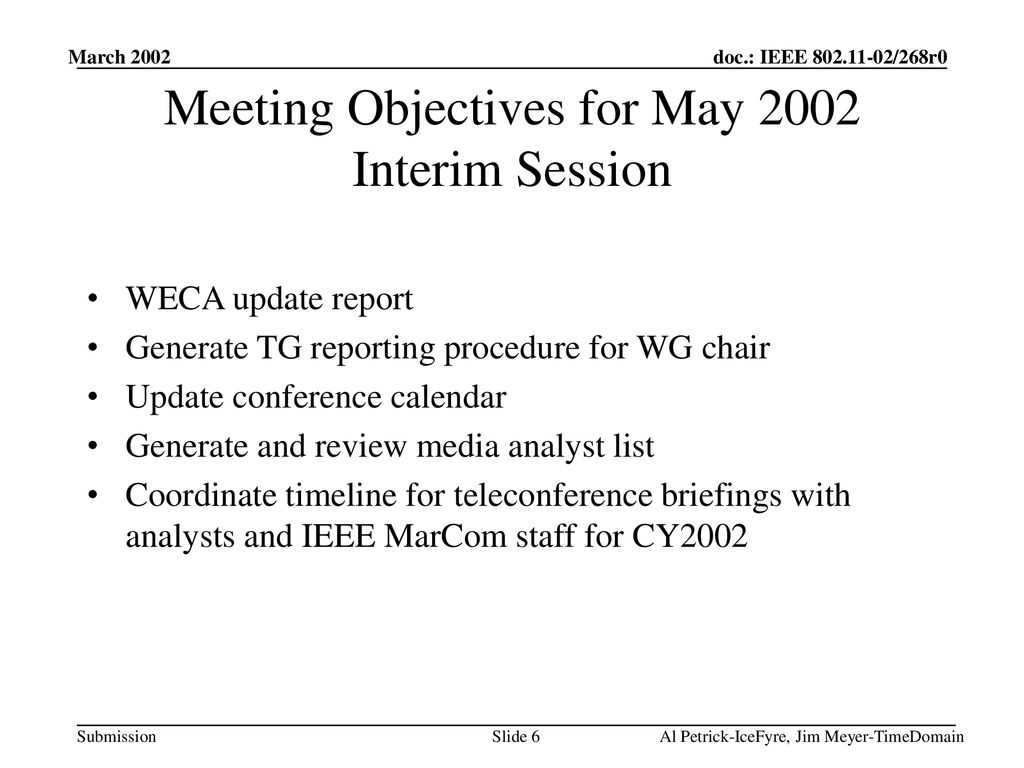 802 11 15 Publicity Committee Al Petrick Jim Meyer Ppt Download