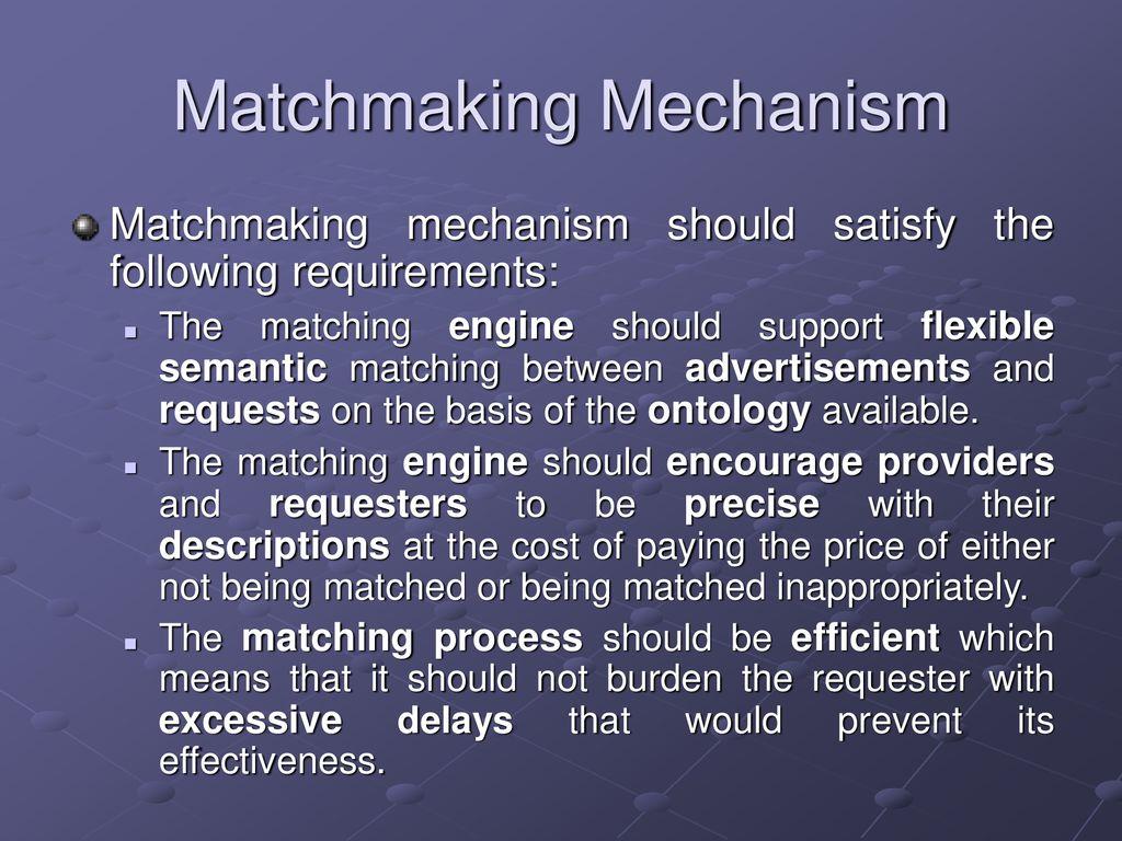 matchmaking mechanism dating profile editor