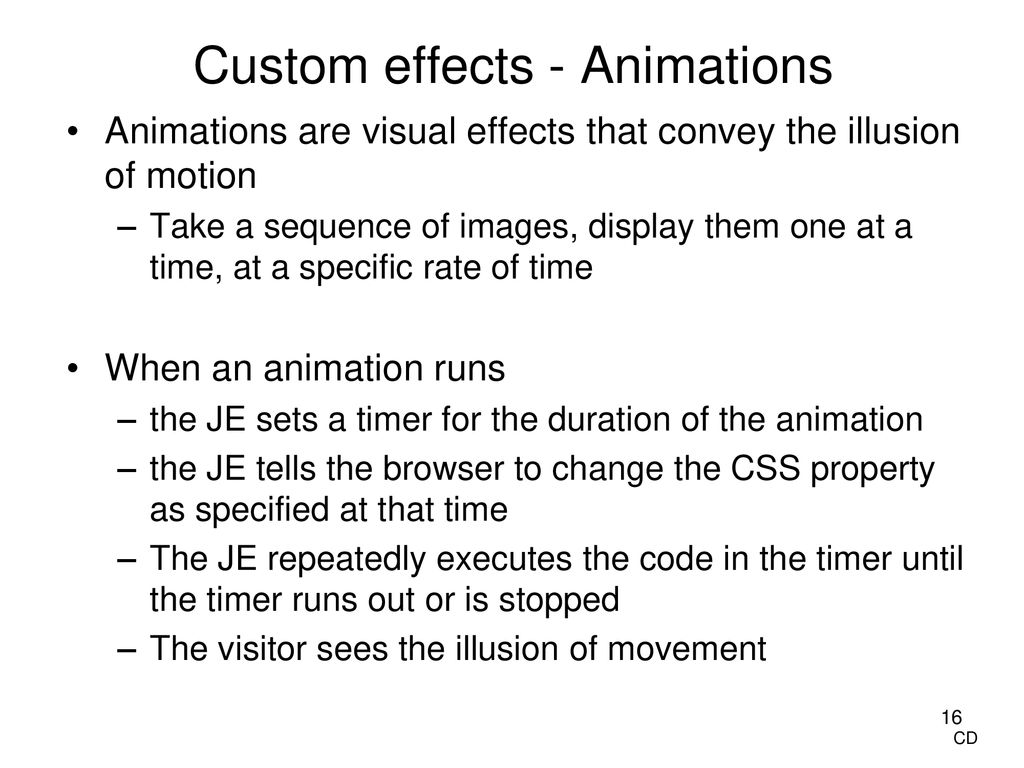 JavaScript & jQuery Timers, Effects, and Animations - ppt