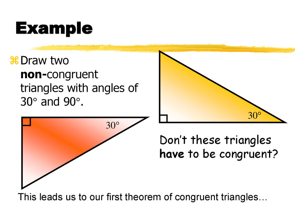 Triangle Congruence Theorems Ppt Download