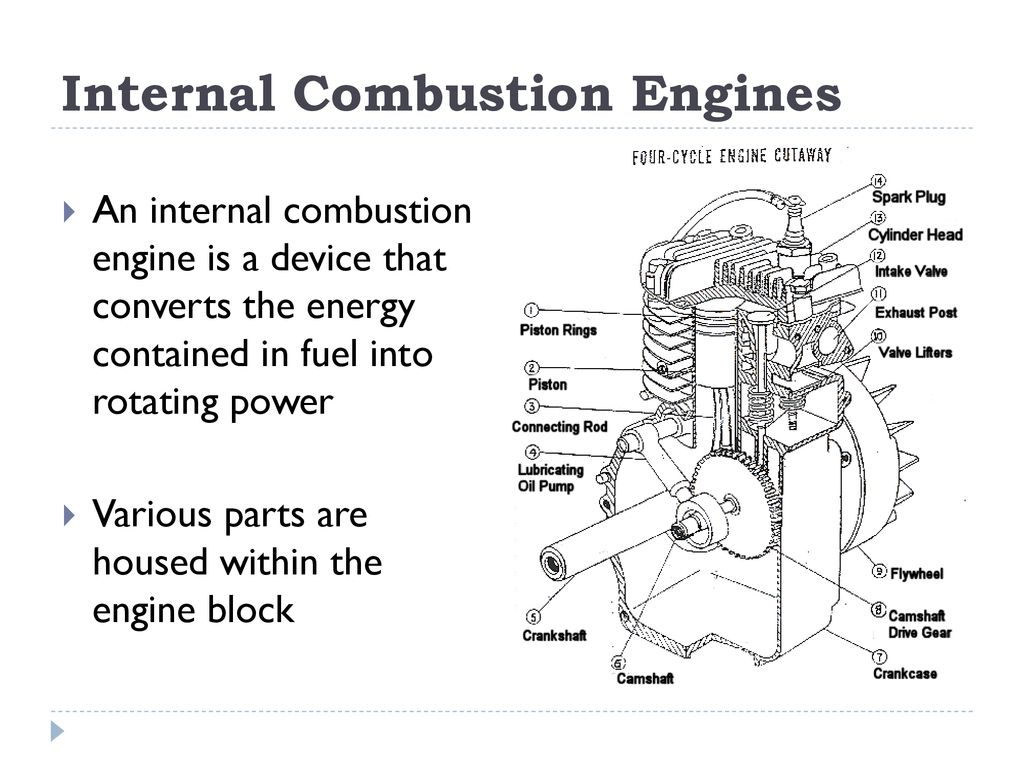 Internal Combustion Engine Block Diagram The Diesel Engine Has The