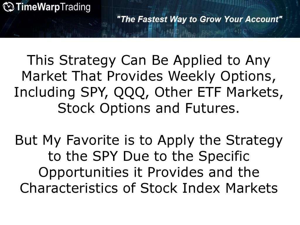 Time Warp Trading Strategy - ppt download