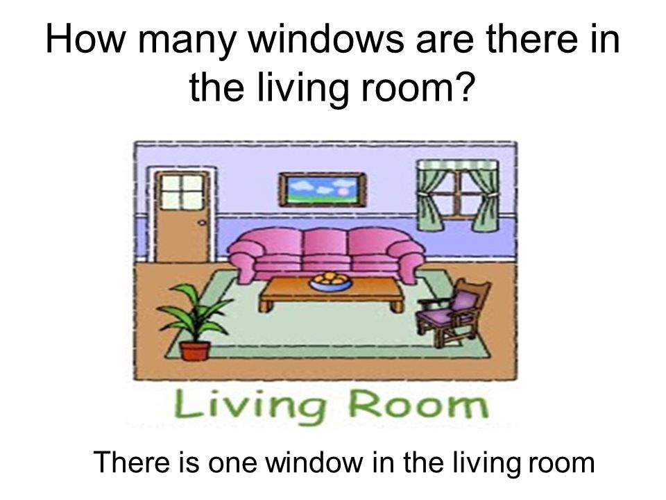 How many windows are there in the living room